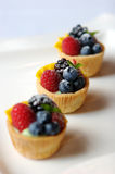 Miniature fruit tart Stock Photo