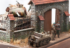 Miniature with german forces WWII times Stock Image