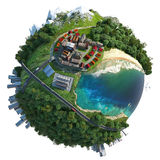 Miniature globe landscape diversity Stock Images