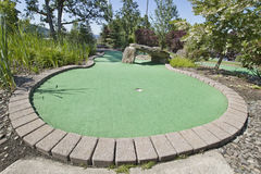 Miniature Golf Course 3. Miniature Golf Course with Trees and Rocks Royalty Free Stock Images