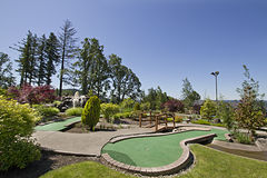 Miniature Golf Course 4 Stock Images