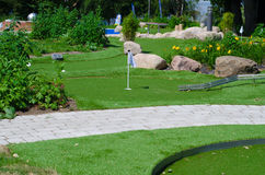 Miniature golf course. A miniature golf course at campsite Royalty Free Stock Image