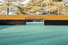 Miniature Golf Course. Close down with trees in the background Stock Images