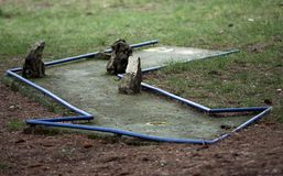 Miniature golf course obstacle Stock Image