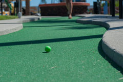 Miniature golf course putting green Royalty Free Stock Image