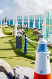 Miniature Golf Course at Sea Royalty Free Stock Photos