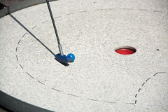 Miniature Golf. People are playing miniature golf Royalty Free Stock Photos