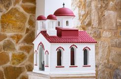 Miniature of the greek church in Maleme town on Crete. Greece Stock Photo