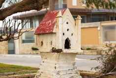 Miniature of the greek church in Maleme town on Crete. Greece Royalty Free Stock Images