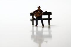 Miniature guitarist B Stock Image