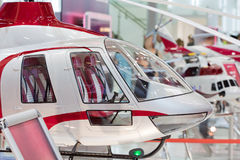 Miniature helicopter at International exhibition Stock Image