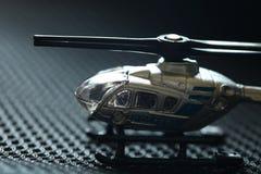 Miniature helicopter model scene. stock photos