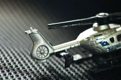 Miniature helicopter model scene. royalty free stock images