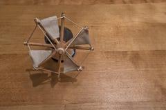 Miniature holland characteristic windmill isolated . Stock Photos