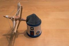 Miniature holland characteristic windmill . Stock Image