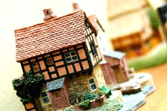 Miniature House. Miniature of traditional European house with stunning craftsmanship stock photo
