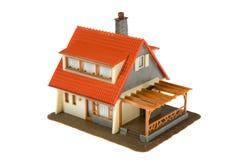 Miniature  house isolated on white background Royalty Free Stock Image