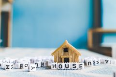 Miniature house model stock photo