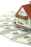 Miniature House and Money. Stock Photo