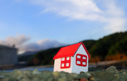 Miniature House in seaside Royalty Free Stock Photography