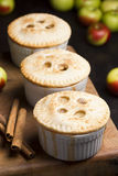 Miniature Individual Apple Pies Stock Photos