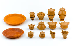 Miniature kitchen toy pottery clay Stock Image