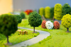 Miniature Landscape of a park Royalty Free Stock Photo