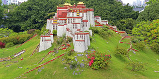 Miniature landscape of potala palce Royalty Free Stock Image