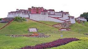 Miniature landscape of potala palce Stock Photography