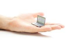 Miniature laptop Stock Photography