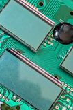 Miniature LCD panels on the motherboard. Stock Photography
