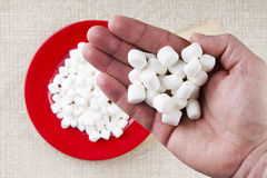 Miniature Marshmallows Stock Images