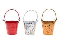 Miniature metal bucket Stock Photo