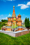 Miniature miniature Saint Basil's Cathedral Stock Images
