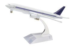 Miniature Model of Commercial Jetliner Royalty Free Stock Photos