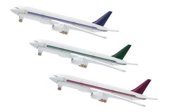 Miniature Model of Commercial Jetliners Royalty Free Stock Image