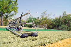 Miniature model of a field. A miniature model of a field Stock Photography