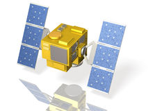 Miniature model of a hypothetical satellite Royalty Free Stock Image