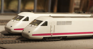 Miniature model of intercity train Stock Images