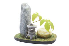 Miniature model of the Japanese style garden Stock Photography
