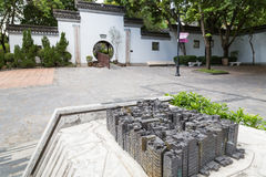 Miniature model of the Kowloon Walled City Royalty Free Stock Image
