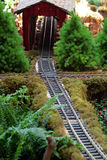 Miniature model locomotive Stock Images