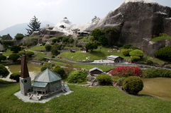 Miniature model in mini park Stock Image