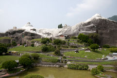 Miniature model in mini park Royalty Free Stock Photography