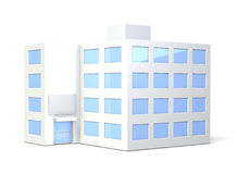 Miniature model of the office building Stock Photo