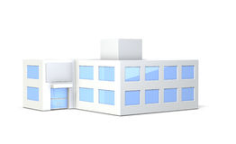 Miniature model of the office building Royalty Free Stock Images