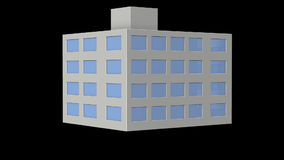 Miniature model of a Office building. stock video footage