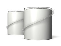 Miniature model of oil tank. Computer generated image Royalty Free Stock Photos