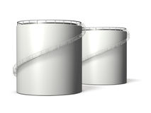 Miniature model of oil tank Stock Images