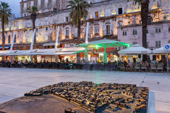Miniature model of Split's Old Town at Riva Stock Images